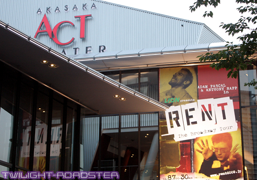 RENT - The Broadway Tour - in Tokyo -当日-